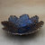 Ring Dish, Trinket Dish, Dark Brown With Dark Purple Color Flower Lace Dish,