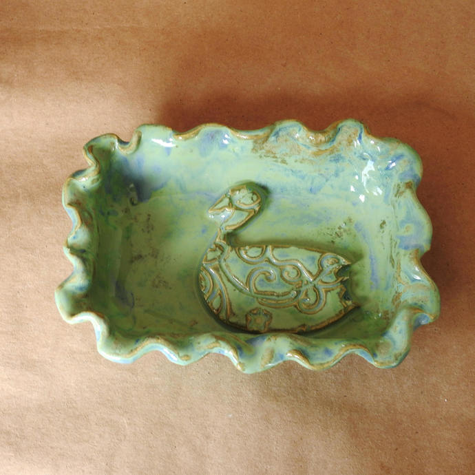 Swan Soap Dish, Candy Dish, Trinket Dish, Butter Dish, Rings and Things Holder,