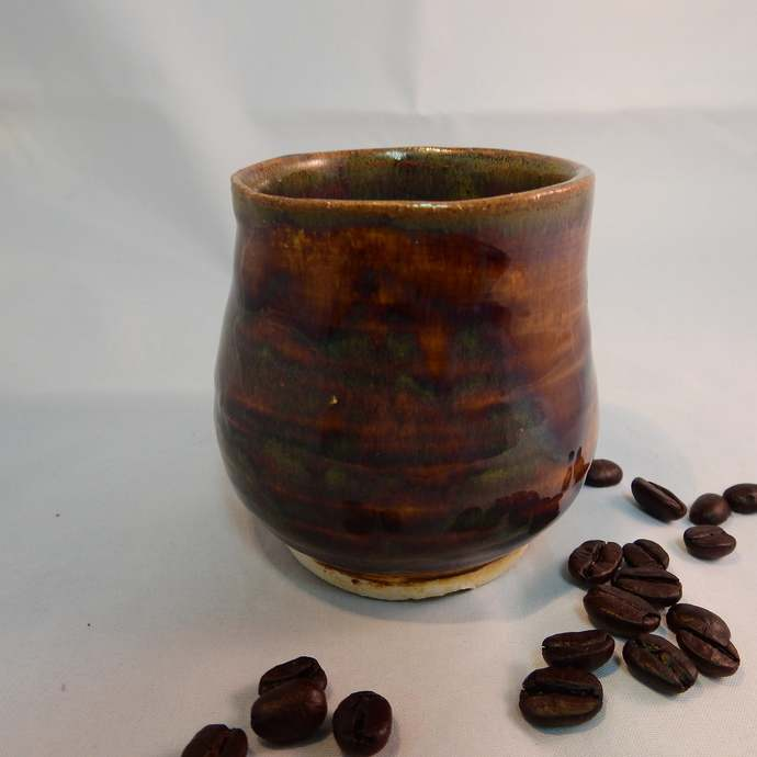 Whiskey Cup, Wine Or Juice Cup, Tea Cup, Pottery Espresso Cup, Chocolate Brown