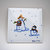 Ceramic Tile, Hand Painted Snow People, Whimsical  Parent and Child Snowman,