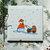 Ceramic Tile,  Trivet, Wall Art, Back-Splash, Mother Snowman Pushing Baby