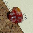 Red Heart Millefiori Beads