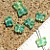 Blue Green Butterfly Beads 9-2269
