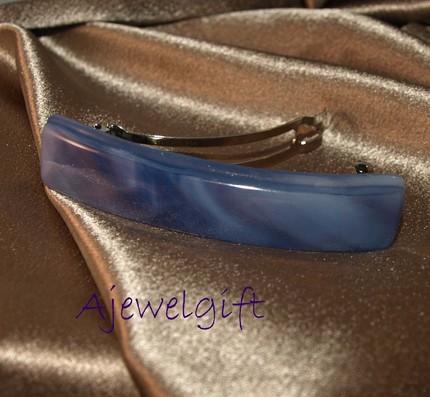 Purple Narrow Fused Glass Barrette (93157DLT)