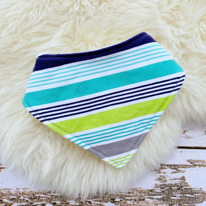 Cool Stripes Bandana Bib