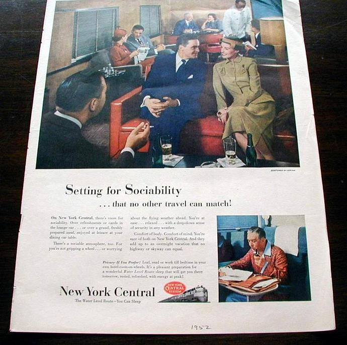 1952 Life Magazine Ad-New York Central
