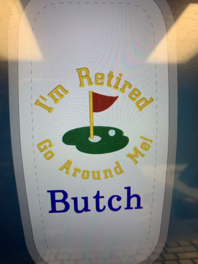 Retirement Golf towel /Personalized Golf Towel / Embroidered Towel / Monogram