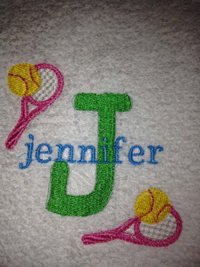 Tennis Towel, Custom Personalized, Embroidered Towel, Monogrammed Sports, Sports