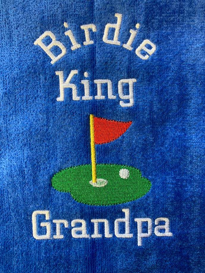 Birdie King Golf Towel / Funny Golf Towel / personalized Golf Towel/ Gift for