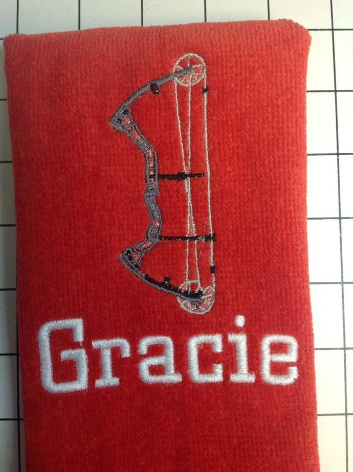 Archery Towel Custom Personalized Embroidery