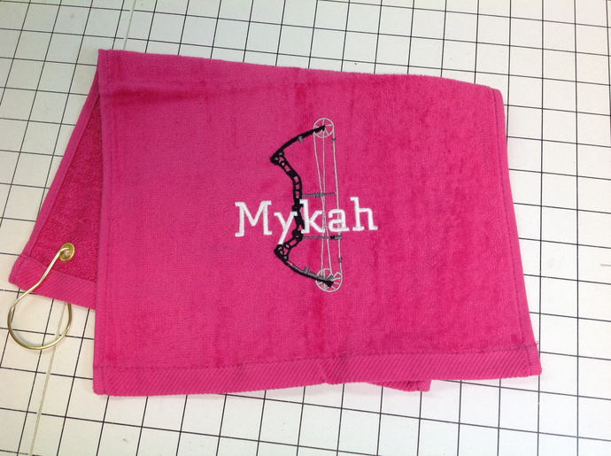 Archery team towels custom embroidered