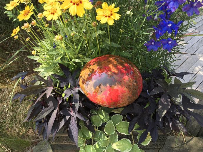Fused Glass garden Mushroom decoration ornament