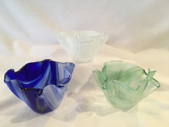 Colorful Fused Glass votive candle holder