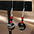 Swirls of Color on Black Glass Earrings-9020