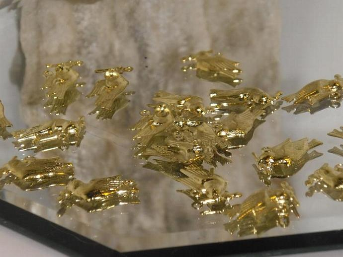 20 gold plated DOVE drops