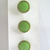 Bright Green Glass Buttons with Gold Luster Border 3780-8 Vintage 50s