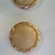 Tan Glass Buttons with Gold Luster Border 3780-8 Vintage 50s