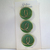 Green Glass Buttons with Gold Luster Design 2797-10 Vintage 50s