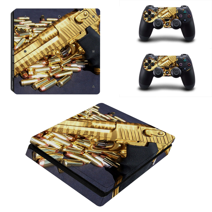 Bullets ps4 slim skin decal for console and controllers