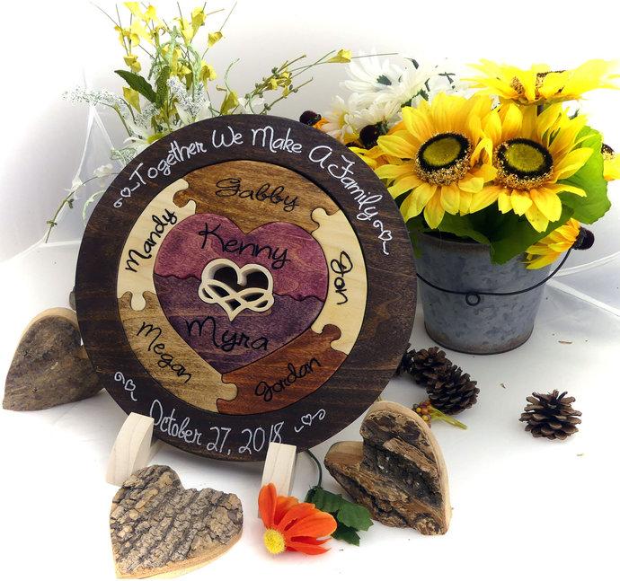 Custom Designed Symbolic Unity Puzzle in a Tray® Unity Ceremony Alternative