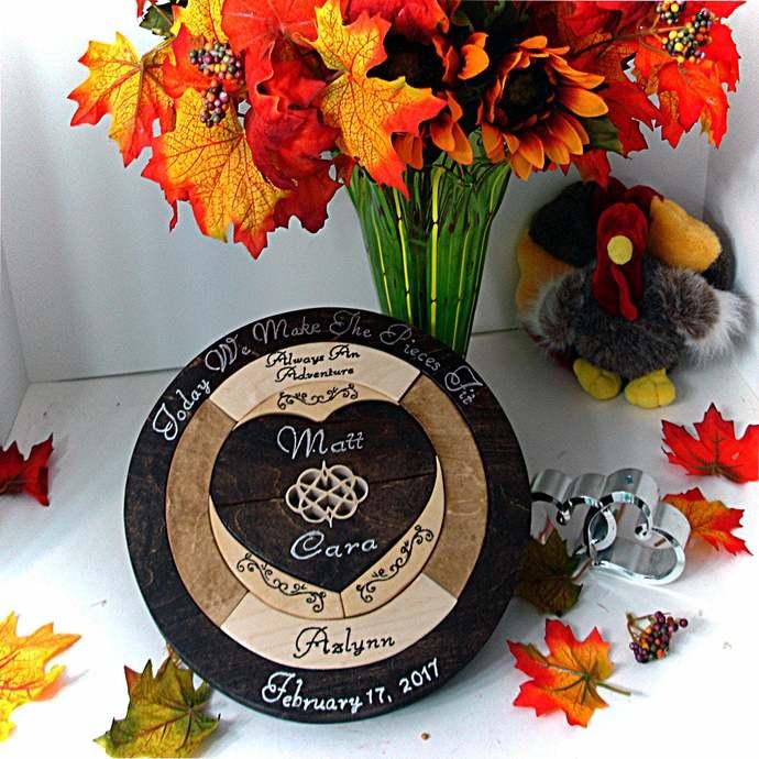 Personalized Custom Designed Unity Puzzle ® Ceremony Blended Family Wedding Gift