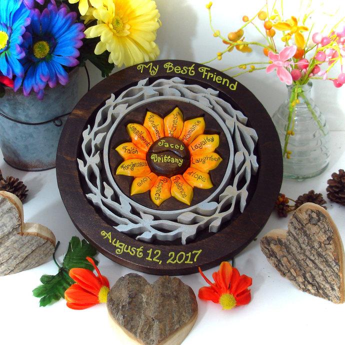 Sunflower Custom Designed Unity Puzzle ® Wedding Puzzle Blend Family Wedding