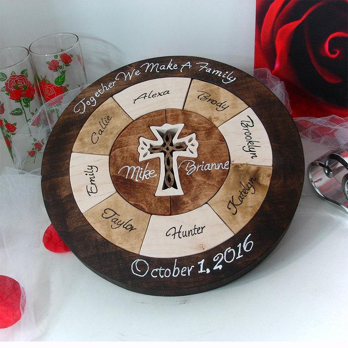 Custom Designed Unity Puzzle ® Wedding Puzzle Personalized Christmas Gift For