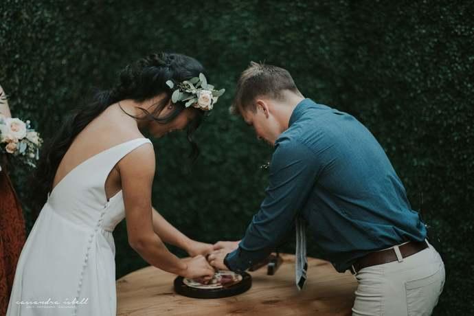 Custom Designed Unity Puzzle® For Couples Double Heart Wedding Unity Ceremony