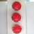 Red Glass Buttons with Gold Luster 3700-10 Vintage 1950s