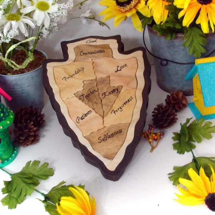 Personalized Wedding Gift Custom Designed Unity Puzzle ® Wedding Puzzle Unity
