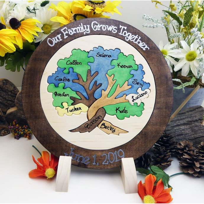 Family Tree Puzzle Custom Designed Unity Puzzle® Personalized Blend Family