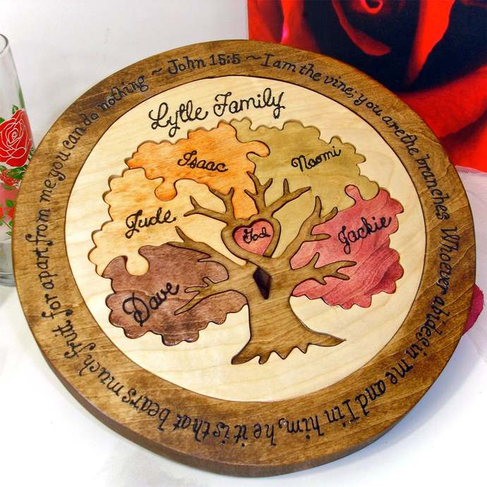 Family Tree Custom Designed Unity Puzzle ® Wedding Puzzle Unity Ceremony