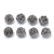 Genuine 925 Sterling Silver Bicone Shape Barrel Spacer 10 mm Beads