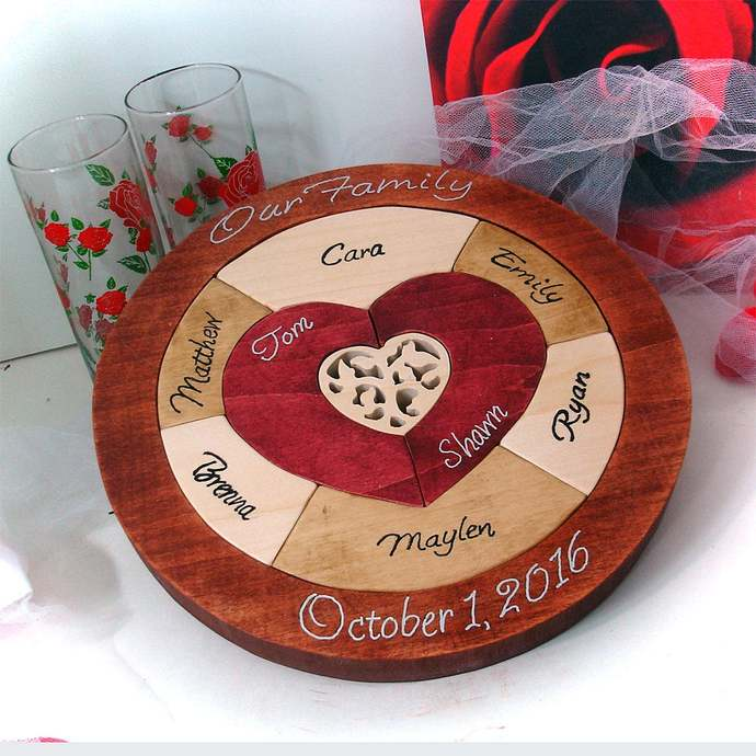 Tree of Life - LGBTQ Wedding Unity Ceremony Puzzle - Personalized Family