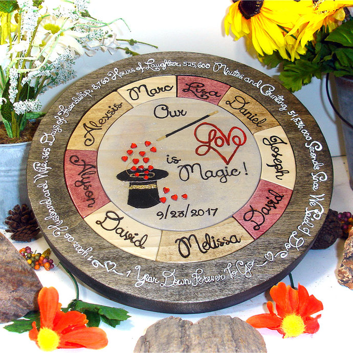 Custom Designed Unity Puzzle ® Wooden Anniversary Gift 25th Anniversary Gift One