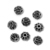 925 Sterling Silver Oxidized 11 mm Round Bohemian Beads Jewelry