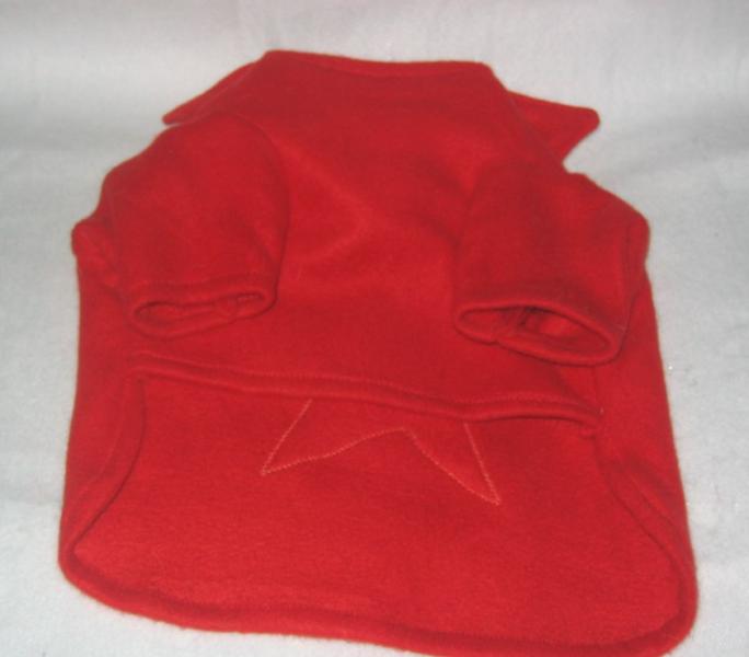 Superstar Dog Shirt Boston Terrier Red Fleece