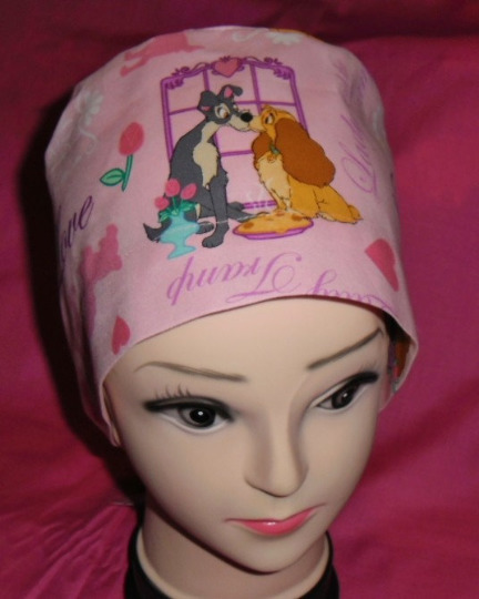 Pediatric Nurses Disney Lady And The Tramp Surgical Scrubs Scrub Caps Ladies