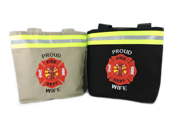 Firefighter Wife Gift, Girlfriend Purse, Gift For Her, Bunker Turnout Gear,