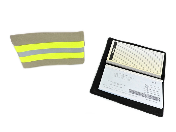 Personalized Firefighter Checkbook Cover, Turnout Bunker Gear Look, Fire man