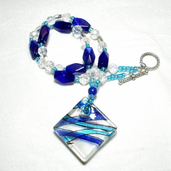 Jazzy Blues Glass Necklace