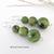 Green Jade Gemstone Earrings - Natural Stone Jewelry