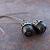 Little Black Acorns on Long Brass Kidney Wires