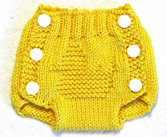 Diaper Cover Knitting Pattern - PDF - Small - RUBBER DUCK