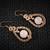 Rose Quartz Earrings; 4 Spiral Wire Wrapped Woven Earrings; Gift for her (E103)