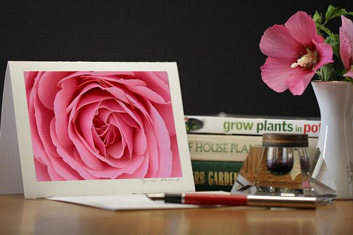 Photo Note Card - Pretty In Pink