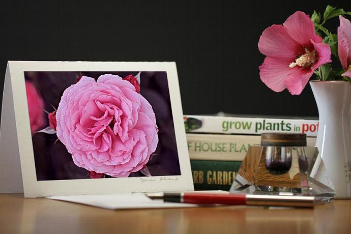 Photo Note Card - Floral Fantasy