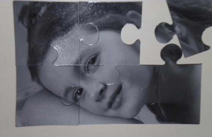 Puzzle magnet photo