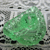 Transparent Green Glass Leaf Realistic Button Vintage