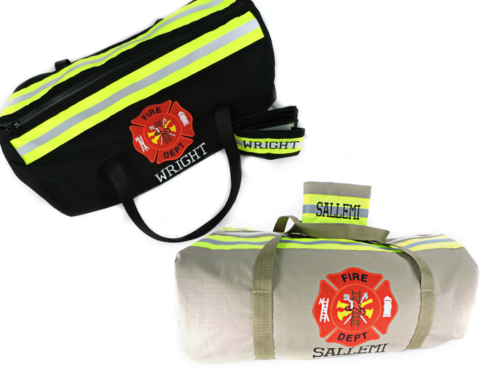 Firefighter overnight Duffel bag and Wallet, Firefighter gift, Gym tote Bag,